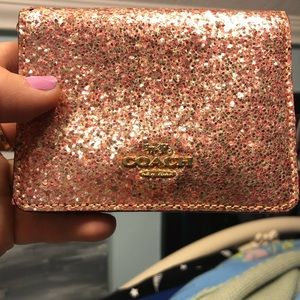 ROSEGOLD COACH WALLET